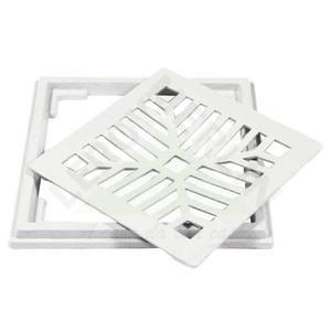 Conjunto Grelha e Porta Grelha Alumínio Branco 20X20cm LG Mais