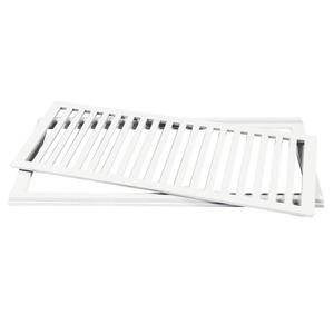 Conjunto Grelha e Porta Grelha Alumínio Branco 20x50cm Lg Mais
