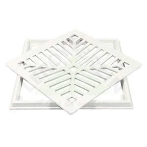Conjunto Grelha e Porta Grelha Alumínio Branco 30X30cm LG Mais