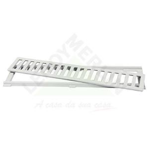 Conjunto Grelha e Porta Grelha Alumínio Cinza 10X50cm LG Mais