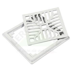 Conjunto Grelha e Porta Grelha Alumínio Cinza 15X15cm LG Mais