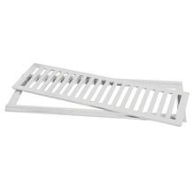 Conjunto Grelha e Porta Grelha Alumínio Cinza 15x50cm Lg Mais