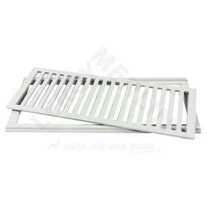 Conjunto Grelha e Porta Grelha Alumínio Cinza 20X50cm LG Mais