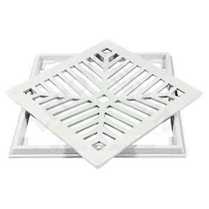 Conjunto Grelha e Porta Grelha Alumínio Cinza 25X25cm Lg Mais
