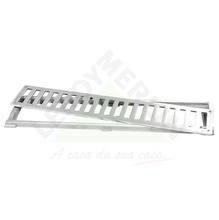 Conjunto Grelha e Porta Grelha Alumínio Escovado 10X50 cm LG Mais