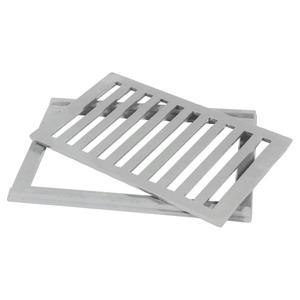 Conjunto Grelha e Porta Grelha Alumínio Escovado 20x30cm Lg Mais
