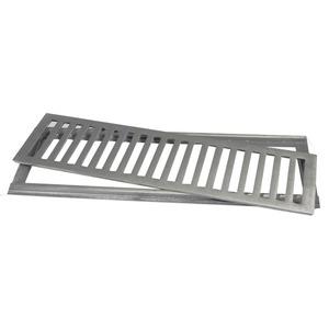 Conjunto Grelha e Porta Grelha Alumínio Polido 10x50cm Lg Mais
