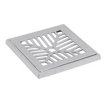 Conjunto Grelha e Porta Grelha Alumínio Polido 20X20cm Lg Mais