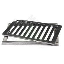 Conjunto Grelha e Porta Grelha Alumínio Polido 20X30cm LG Mais