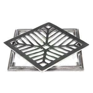 Conjunto Grelha e Porta Grelha Alumínio Polido 25X25cm Lg Mais