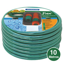 Conjunto Mangueira Flex Verde 10m Tramontina
