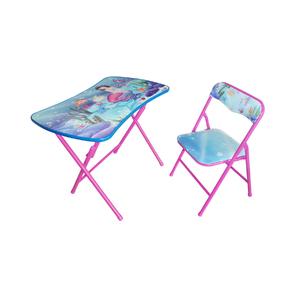 Conjunto Mesa e Cadeira Infantil Sereia 2 Peças Rosa