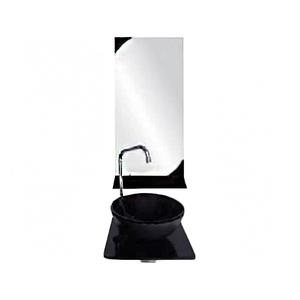 Conjunto para Banheiro 36x33cm Preto Minesota Mimex