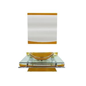 Conjunto para Banheiro 70x53cm Dourado Alasca Mimex