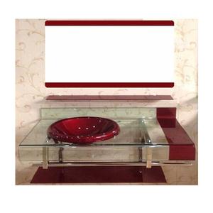 Conjunto para Banheiro 70x53cm Vermelho Texas Mimex
