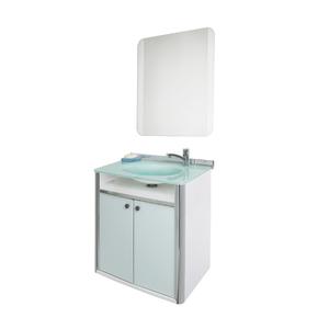 Conjunto para Banheiro Classic 62x41cm Branco Cris Metal