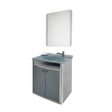 Conjunto para Banheiro Classic 62x41cm Cinza Cris Metal