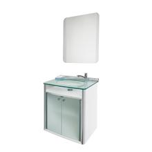 Conjunto para Banheiro Classic 62x41cm Transparente Cris Metal
