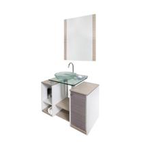 Conjunto para Banheiro Fit 90x43cm Amadeirado Cris Metal