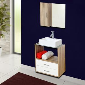 gabinete para banheiro com espelho lyon 57x50x40 bali e branco astral design leroy merlin. Black Bedroom Furniture Sets. Home Design Ideas