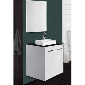 Conjunto para Banheiro Madeira Branco 68x55x19cm Dado Sensea