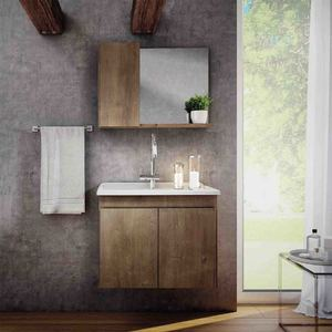Conjunto para Banheiro Madri 45x57x34cm Wengê Gaam