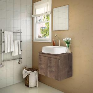 Conjunto para Banheiro Tokyo 45x55,3x40cm Wengê Gaam