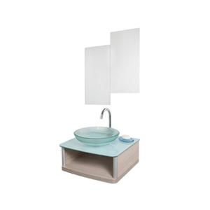 Conjunto para Banheiro Wood 50x45cm Amadeirado Cris Metal