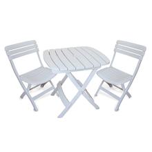 Conjunto para Jardim Plástico Diamantina 3 Peças Branco