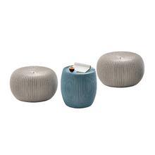 Conjunto para Jardim Plástico Urban Knit 3 Peças Azul e Bege