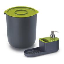 Conjunto para Pia Lixeira e Dispenser Verde By Arthi