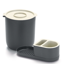 Conjunto para Pia Lixeira e Porta Detergente Branco By Arthi
