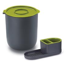 Conjunto para Pia Lixeira e Porta Detergente Plástico Verde By Arthi