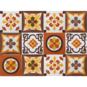 Conjunto Patch Work Arabesco Colorido 20x20cm Cimartex