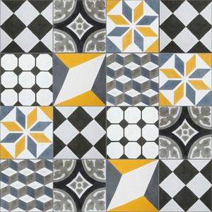 Conjunto Patch Work Geométrico Colorido 20x20cm Cimartex