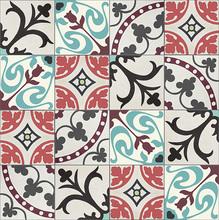 Conjunto Patchwork Floral com 10 peças 20x20cm Cimartex