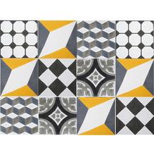 Conjunto Patchwork Geométrico com 10 peças 20x20cm Cimartex