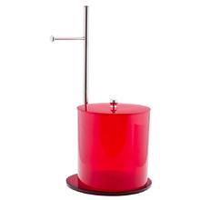 Conjunto Porta Papel Higiênico e Lixeira - Vermelho
