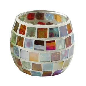 Copo Porta Velas Mosaico Colors Botanic Velas