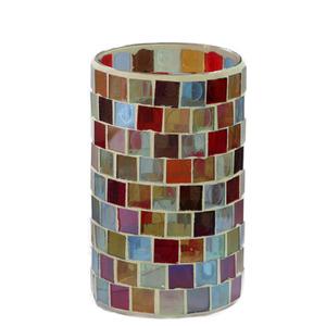 Copo Porta Velas Pilar Mosaico Colors Botanic Velas