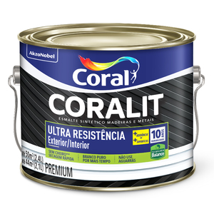 Base T Esmalte Premium Coralit Ultra Resist Balance Brilhante 2,1L Coral