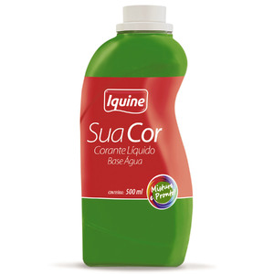 Corante Líquido Sua Cor Verde 500ml Iquine