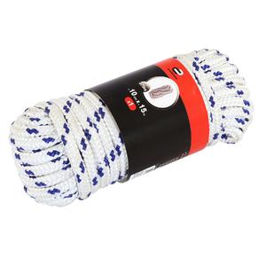 Corda polietileno tran ada 10mmx10m branco e azul 375kg for Tende corda leroy merlin