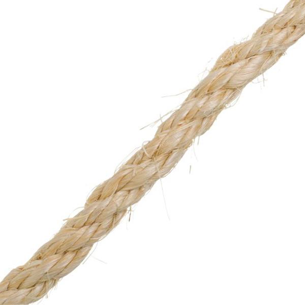 Corda sisal 10mm torcida monofilamento 100 natural vonder for Tende corda leroy merlin