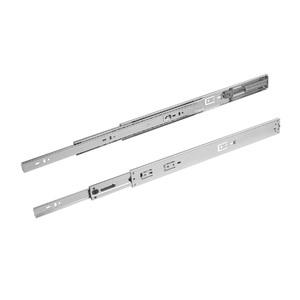 Corrediça Telescópica para Gavetas 400mm até 45Kg Aço Zincado Prata Zamar