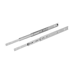 Corrediça Telescópica para Gavetas 450mm até 45Kg Aço Zincado Prata Zamar