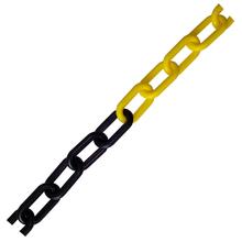 Corrente para Isolamento Elo Reto 9mm Preta e Amarela 30m Fixtil