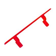 Corrimão Liso Alumínio Vermelho 5x300cm Unefix
