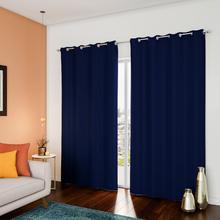 Cortina Blackout Azul com 1 Folha de 1,40x2,6m