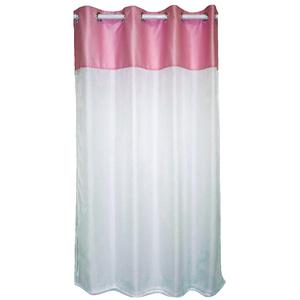 Cortina Candy Rosa e Branca 1,60x1,80m